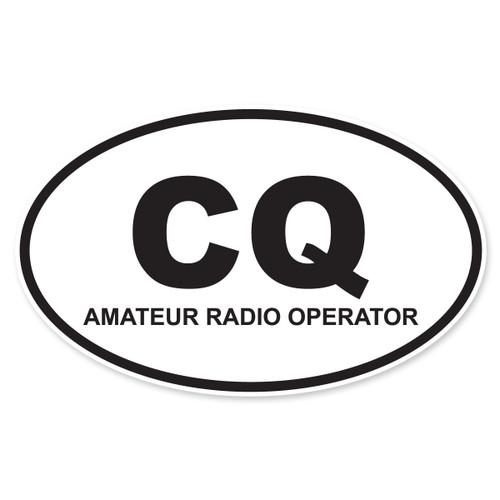 CQ (Amateur Radio Operator) Oval Decal