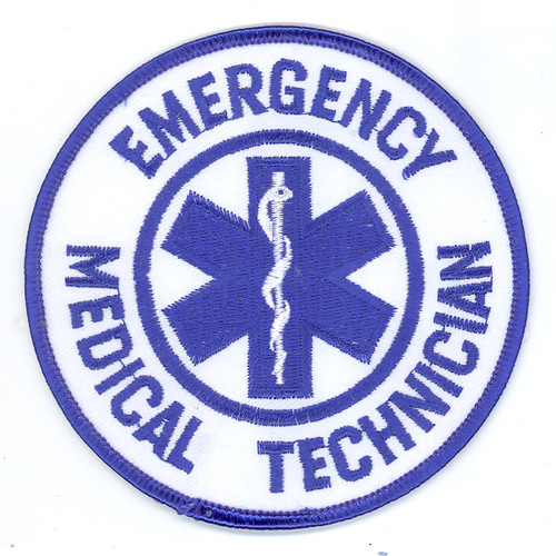 Round Emergency Medical Technician Patch