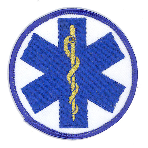 Round Star of Life Gold Patch