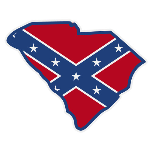 Confederate Flag on SC Outline Decal