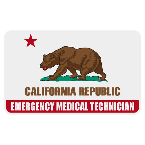 California Emergency Medical Technician Flag Decal