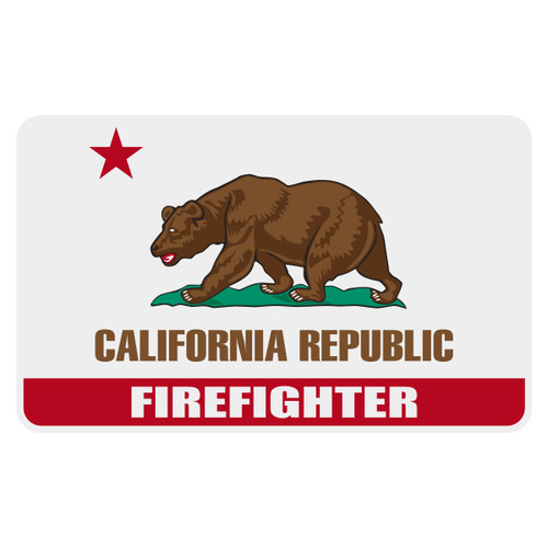 California Firefighter Flag Decal
