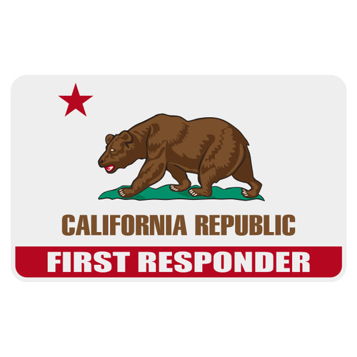 California First Responder Flag Decal