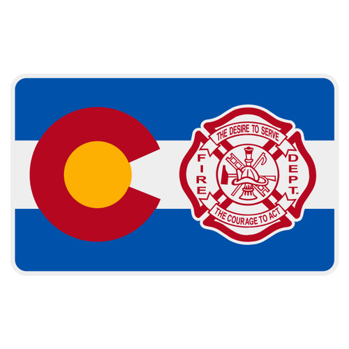 Colorado Flag with Maltese Cross Reflective Decal
