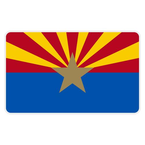 Arizona Flag Reflective Decal