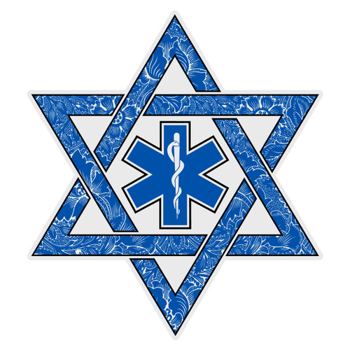 Jewish EMT Paramedic Star of David Decal