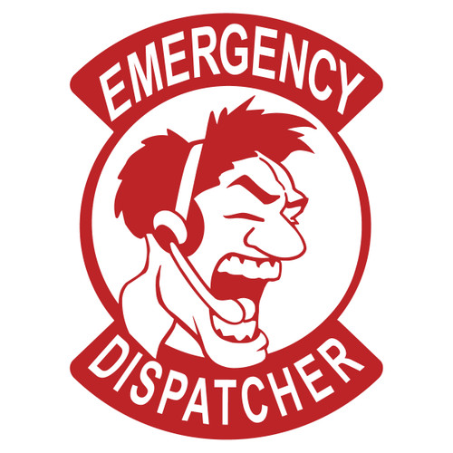 Emergency Dispatcher Male Decal