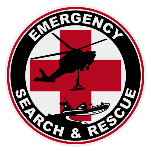 Round Emergency Search & Rescue Decal