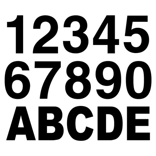 Black Reflective Letters & Numbers