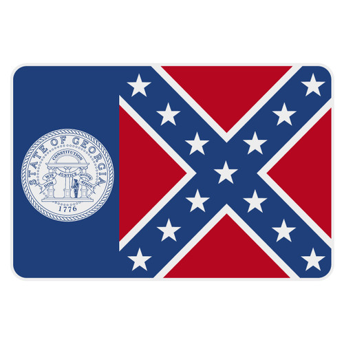 Old Georgia Flag Reflective Decal