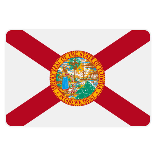 Florida Flag Reflective Decal