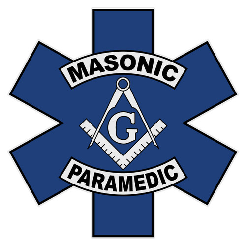 Masonic Paramedic Star of Life Decal