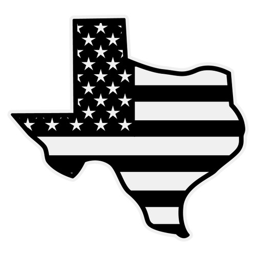 Black American Flag Texas Decal