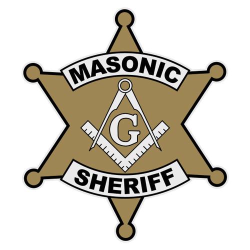 Masonic Sheriff Decal