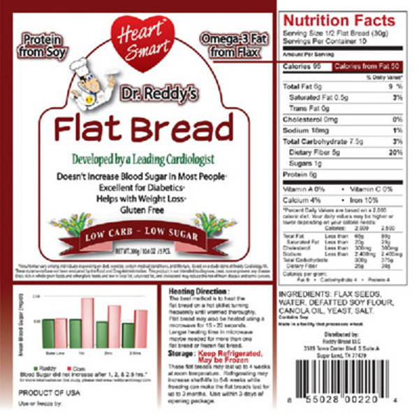 Dr Reddy Heart Smart Flat Bread 5ct
