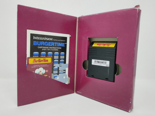 BurgerTime -COMPLETE IN BOX- (Intellivision)