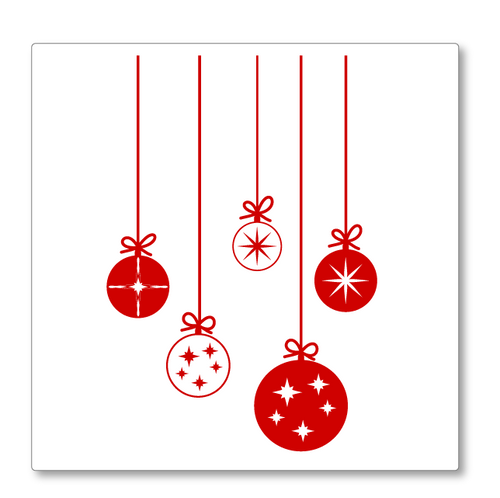 Christmas Baubles Decoration wall decal - Cute