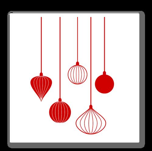 Christmas Baubles Shop Window Decoration - Classic