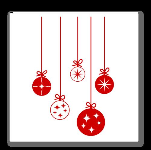 Christmas Baubles Shop Window Decoration - Cute