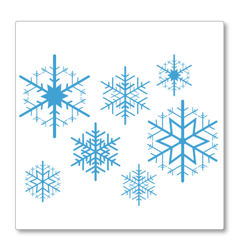 Snowflakes Christmas Shop Window Decoration decal