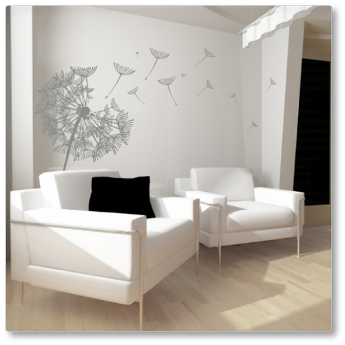 Dandelion in the Summer Breeze wall decal