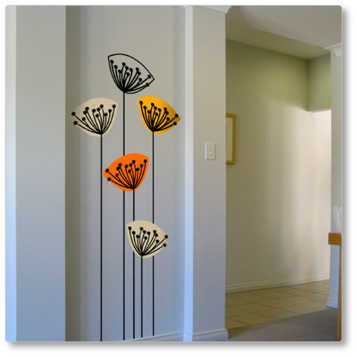 Dandelions from Scandinavia wall decal (long stems)