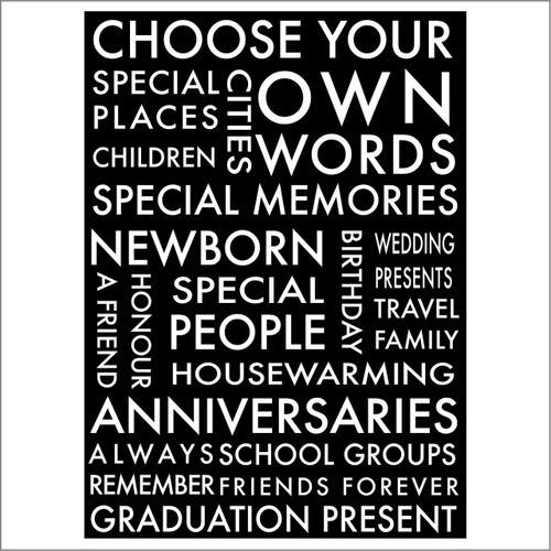 Choose your own word wall decal