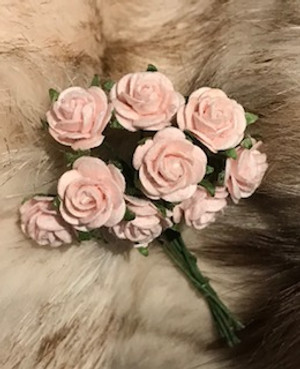 Pale Pink Paper Roses
