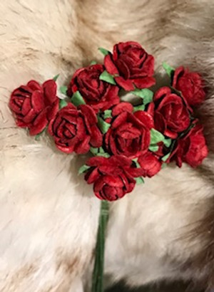 Deep Red Paper Roses