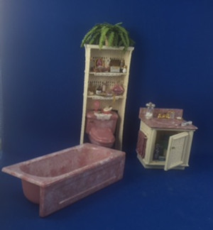 Wicker Bathroom Set by Debi Kolenchuk, Embraceables