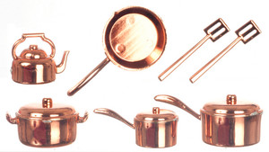 Copper Finish Plastic Pot & Pan Set