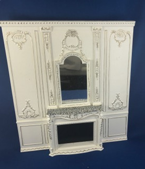 Hansson Wall With Mirrored Fireplace  Painted