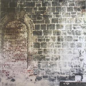 Paper Block Wall with Bricked in Doorway