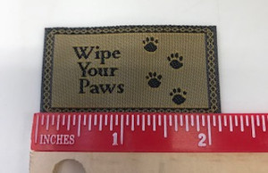 """Wipe Your Paws"" mat"