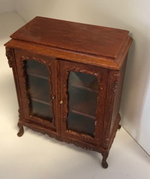 Bespaq Walnut Carved Cabinet