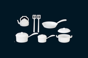 White Plastic Pot & Pan Set