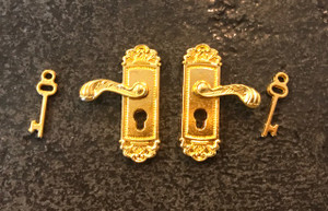 Fancy Brass Door Knobs with Keys