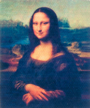 Unframed Mona Lisa Painting