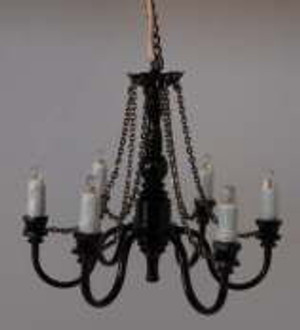 LED Battery Ceiling Chandelier - Black