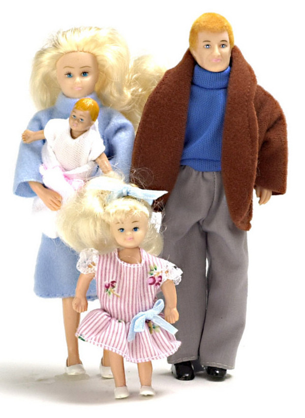 Blonde Family of Dolls