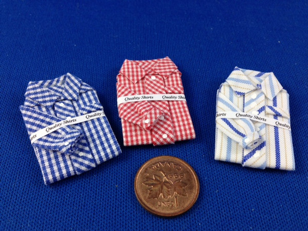 Handcrafted Folded Shirts - Set of 3