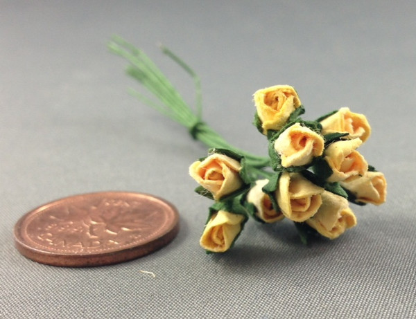 Yellow Paper Rose Buds