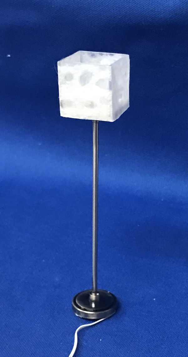 Square Shade Floor Lamp - pewter