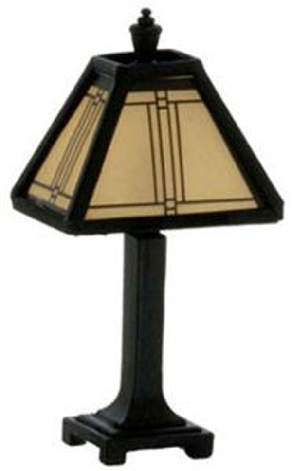 Craftsman Tiffany Lamp, Black