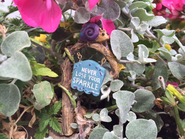Fairy Garden Sign (Snail)