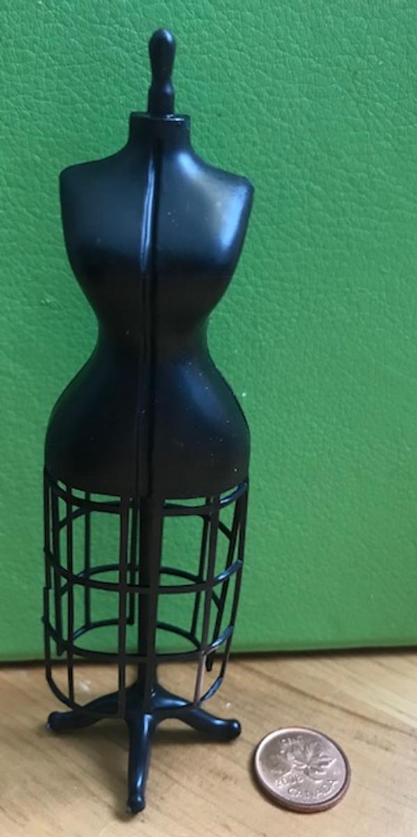One assembled dress form