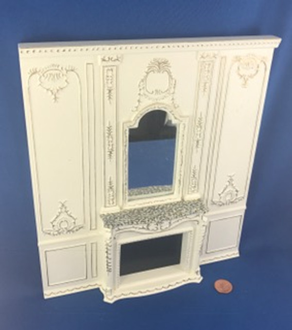 Hansson Wall with Mirrored Fireplace- Painted