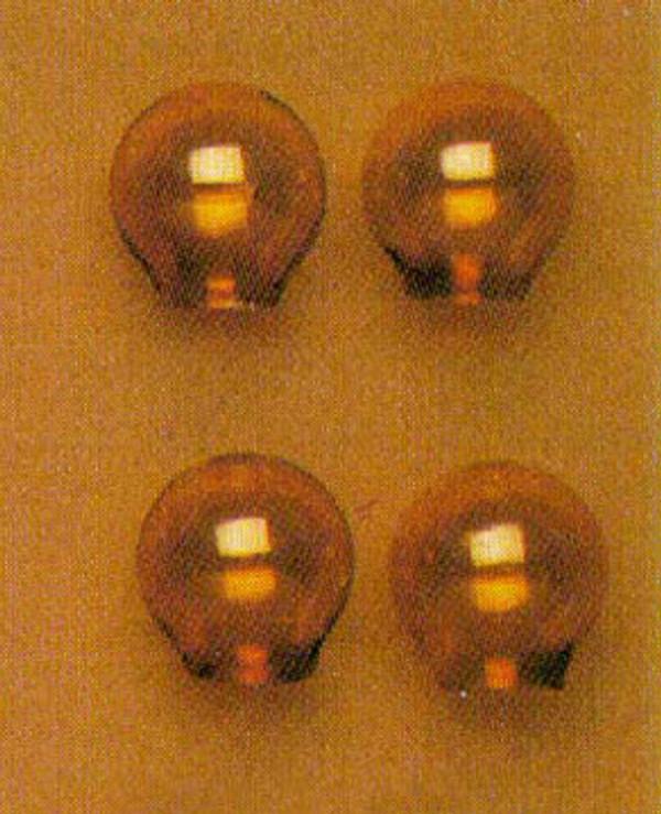 Amber Glass Globes