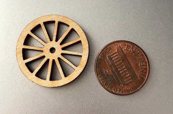 "1"" Wooden Wheel"