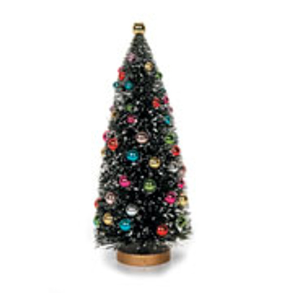 "6 1/2"" Pre-Decorated Christmas Tree with Working Lights"